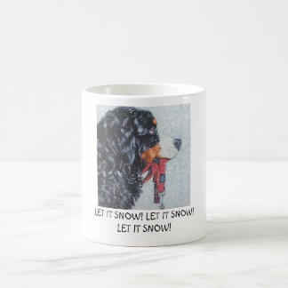 mug bernese dog LET IT SNOW!