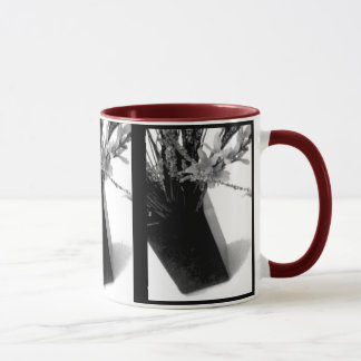 Mug, Beverage - Touch of Red in Black and White Mug