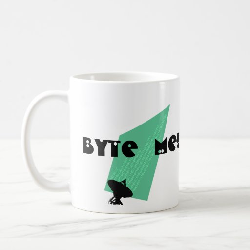 "MUG ~ bits & bytes Humor Techie Gift ""BYTE ME!"""