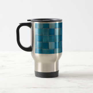 mug blue mosaic degraded