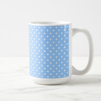 Mug/Blue & White Polka Dots Coffee Mug