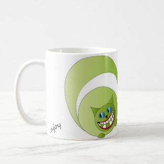 Mug Cheshire cat, enjoy