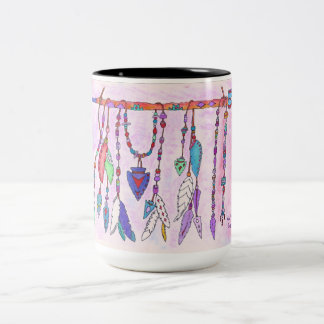 Mug, coffee cup, hand drawn design Two-Tone coffee mug