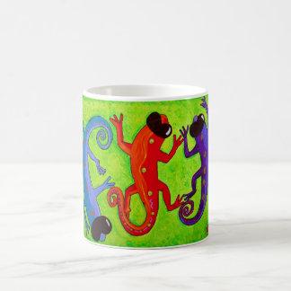 Mug -Delightful Limey Lizards in Sunglasses