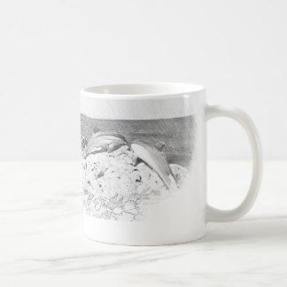 Mug Dolphin Coffee Cup Dolphins Sea Ocean Vintage