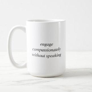 Mug - engage compassion - black