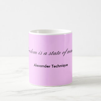 Mug - freedom is a state of mind