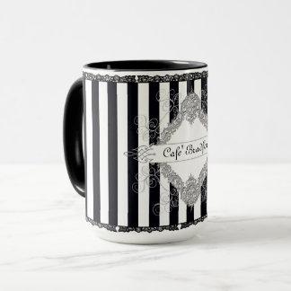 Mug-French Flare -Cafe' (InsertYour last name) Mug