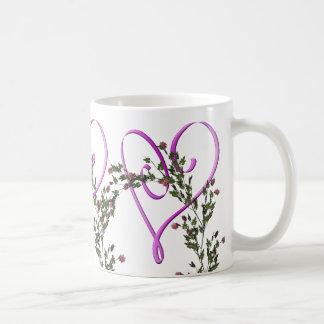 Mug Heart And Pink Roses