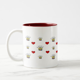 mug - hearts and crowns