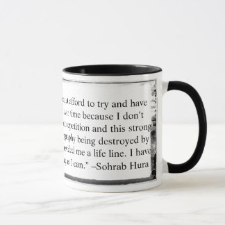Mug I have to try and just survive quote Hura