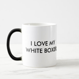 Mug - I Love My White Boxer