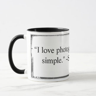 Mug I love photographing quote Franklin