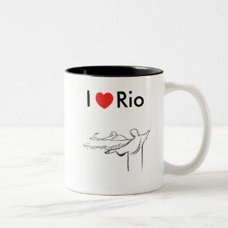 Mug I love Rio De Janeiro in two tones