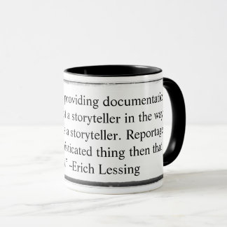 Mug I saw my job as providing documentation Lessin