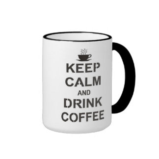 Mug in two tones - KeepCalm and Drink the Coffee