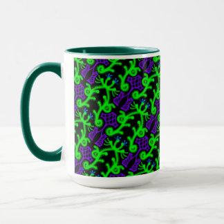 MUG Jimette green and black mauve Design