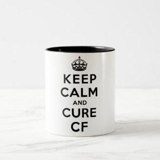 MUG: Keep Calm and Cure CF Two-Tone Coffee Mug