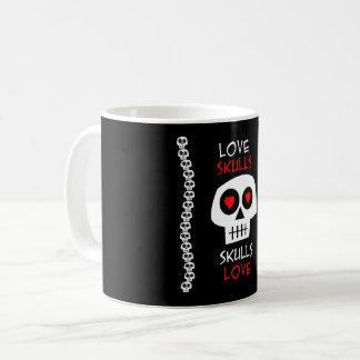 Mug Love Skulls