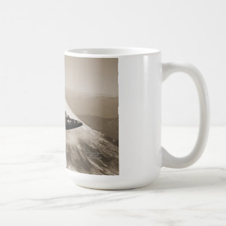 Mug: Marine Corps aircraft over Mt. Fuji, Japan Coffee Mug