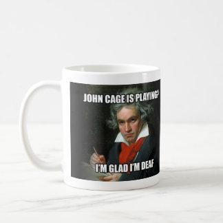 "Mug: ""Meme"" - Beethoven & Cage Coffee Mug"