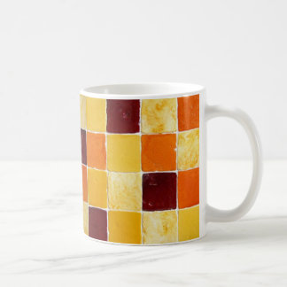 mug mosaic orange