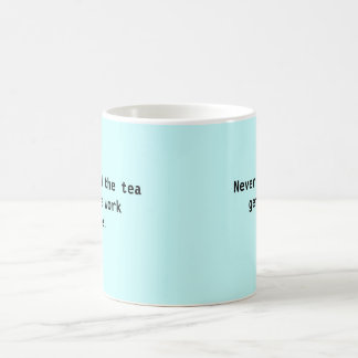 "Mug  - ""Never mind the tea get the work done!"""