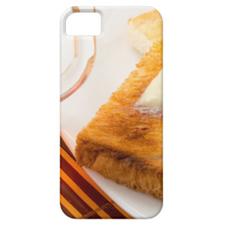 Mug of tea and hot toast with butter barely there iPhone 5 case