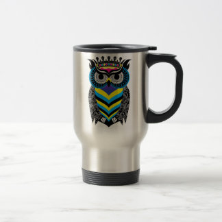 Mug of Thermal Trip the Art of the Colorful Owl