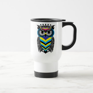 Mug of White Trip the Art of the Colorful Owl