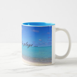 Mug One day with the beach