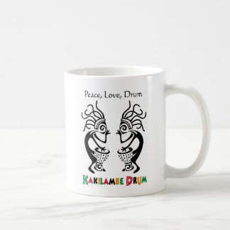 Mug - Peace, Love, Drum - Kakilambe Drum Log