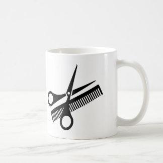 Mug personalized for hairdresser/barber's shop