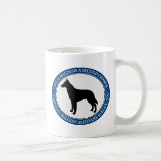 Mug, personalized & Malinois Rescue Logo Basic White Mug