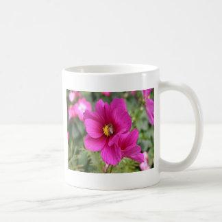 Mug Pink Cosmos with a wasp