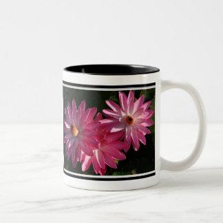Mug-Pink water lilies Two-Tone Mug
