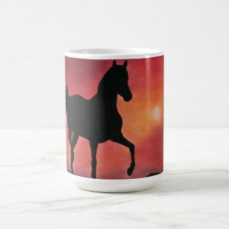 Mug Prancing Horse in Sunset