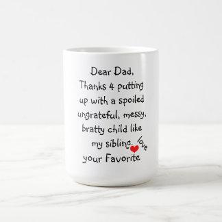 "Mug/Quote-""Dear Dad"" Basic White Mug"