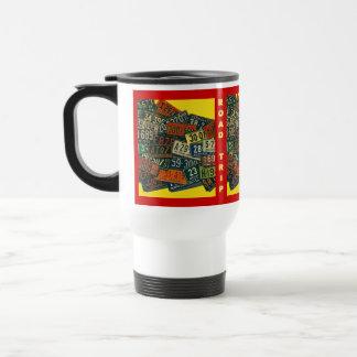 Mug RETRO VINTAGE LICENSE PLATES Travel ROAD TRIPS