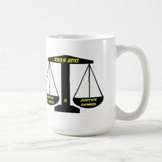 Mug Scales of Justice - Justice Delayed Denied