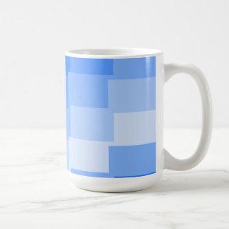 Mug shades of blue rectangles