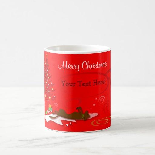 Mug (Template) -Chocolate Lab Christmas