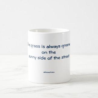 Mug: The grass is always greener on the sunny side Basic White Mug