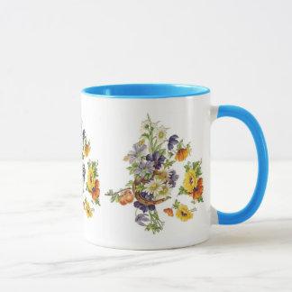 Mug Vintage Floral Bouquet Horse Shoe