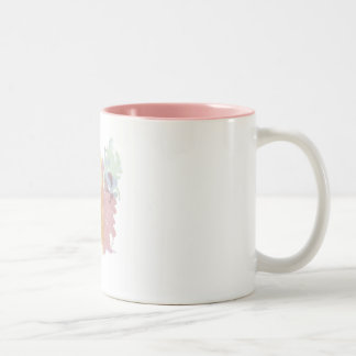 mug white pink bottom