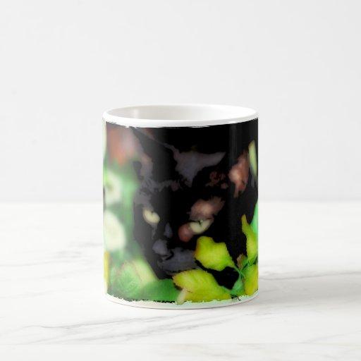 Mug with a black cat