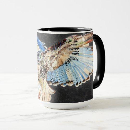 Mug with bird of prey design