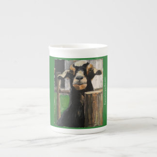 Mug with Black Goat on green