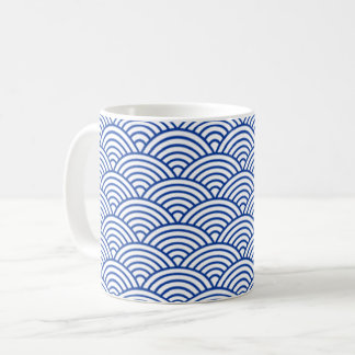 Mug with blue and white circles