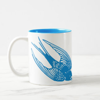 Mug with Blue Swallow